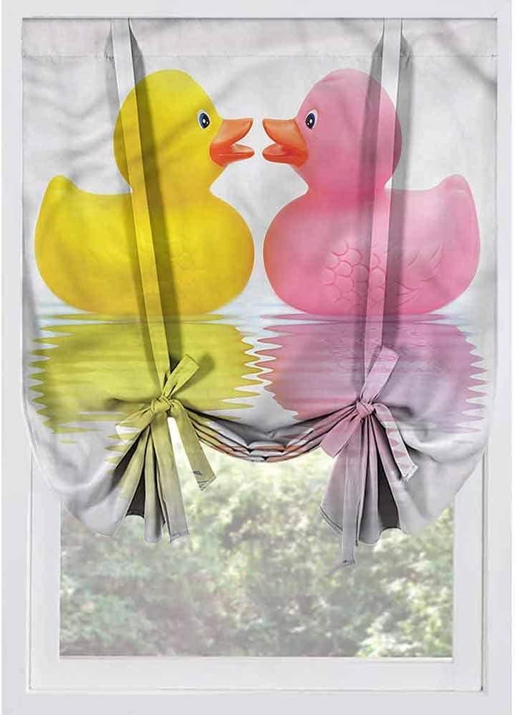 FJPT Rubber Duck Blackout Tie Up Shades PanelsDuck Couple in Lov