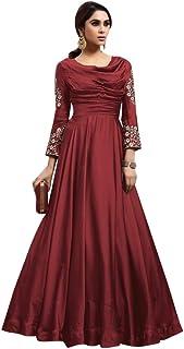 Designer Ladies Evening Cocktail dress Fobi Silk Gown Indian Women Party wear 8066