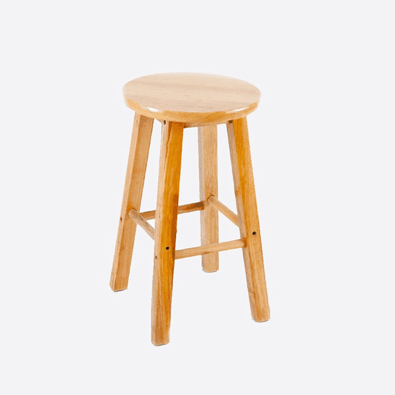 Solid Wood High Stool Bar Counter Simple Barstool Restaurant Non-Slip Stool 40-50Cm,2940Cm
