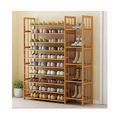 Zapatero de 10/11 niveles Zapatero de madera Organizador de almacenamiento de zapatos grande Estante de torre de zapatos multifuncional para la entrada Sala de estar Almacenamiento de zapatos (tamaño: