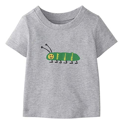 Moon and Back by Hanna Andersson Short Sleeve Graphic Tee Fashion-t-Shirts, Grau meliert, US 2T (EU 92-98)