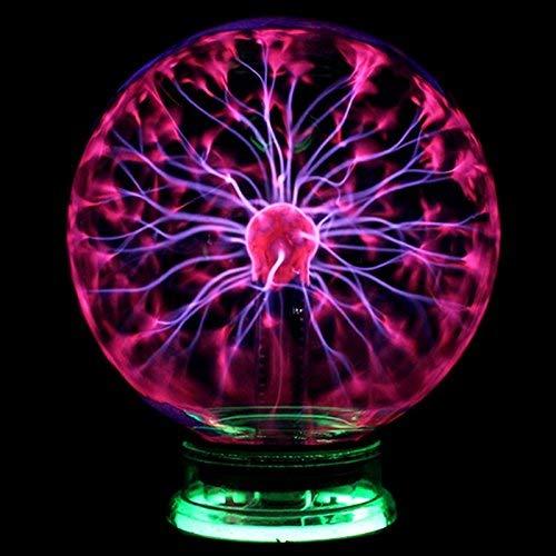 HIGHKAS Desinger Novedad Vidrio Plasma mágico Electricidad estática Bola luz 4 5...