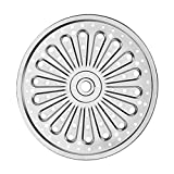 Yardwe 26cm Round Steaming Tray Stainless Steel Steamer Plate Dumpling Dim Sum Buns Steaming Dish for Kitchen