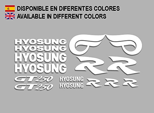 White Ecoshirt 1S-3QH3-BOVO Hyosung GT 250 F213 Stickers