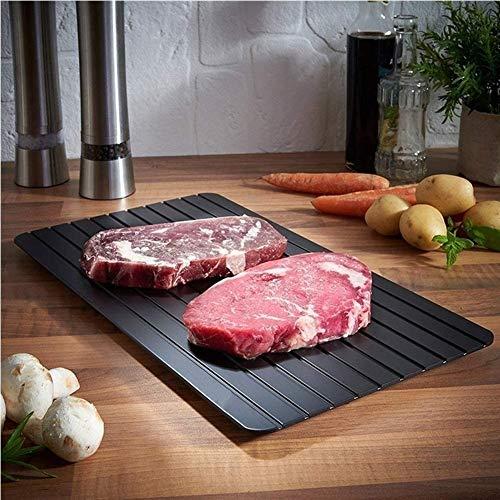 ZFLY-JJ Rapid Defrost Tray - Hochwertiges, leichtes Aluminium für die Küche zu Hause Essentielles Auftauen Gefrorenes Fleisch Geflügelfutter 8X schneller (Color : M(29.5cm*20.3cm*0.2cm))