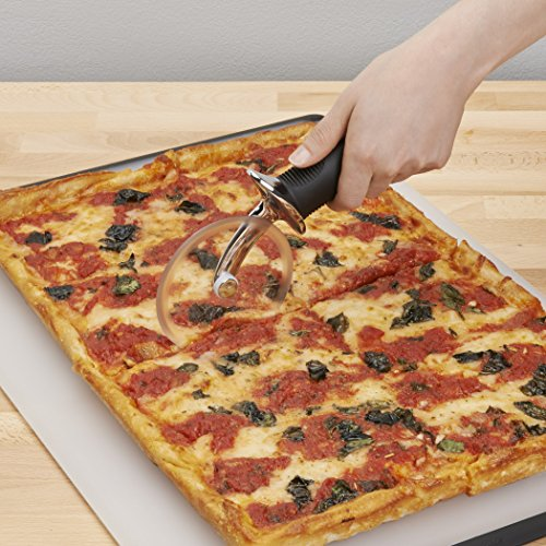 Product Image 6: OXO 1065872 Good Grips 4-inch Pizza Wheel and Cutter for Non-Stick Pans,Clear/Black