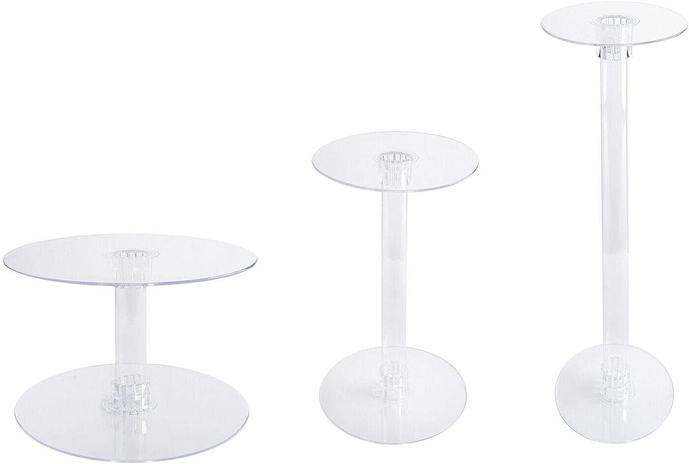 Max 45% OFF 3 Tiers Clear Acrylic Wedding Birthday Party Cupcake CAKE Stand Cheap mail order specialty store