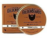 Bio Bart Balsam Toscana 30ML - 100% Natürlich Jojoba & Argan & Aprikosenöl, Ingwer & Wacholder. Befeuchten Sie Ihren Bart und Ihre Haut -