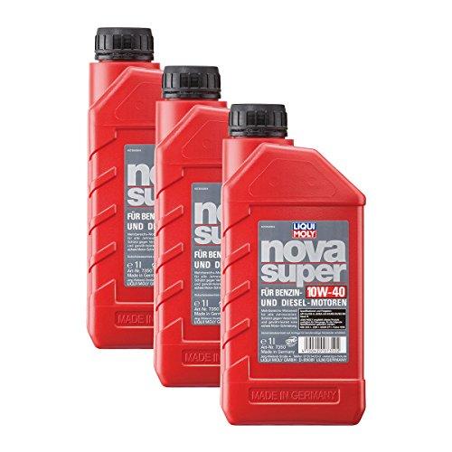 3x LIQUI MOLY 7350 Nova Super Motoröl 10W-40 1L