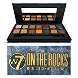 W7 | On The Rocks Eyeshadow Makeup Palette | Tones: Creamy Mattes & Duo-Chromes and Shimmer Metallics | Colors: Cool Neutrals, Greens, Blues, Yellows and Golds | Cruelty Free and Vegan Eye Makeup