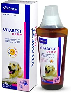 Virbac VITABEST DERM Oral Supplement for Dogs and Cats - 250ml by Jolly and Cutie Pets