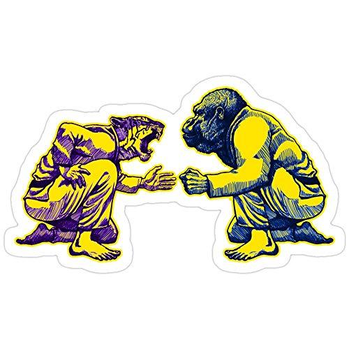 Vijk kor Martial Arts - Way of Life #1 - Tiger vs Gorilla - Jiu Jitsu, BJJ, Judo Stickers (3 Pcs/Pack)