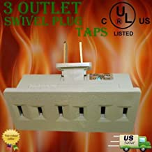 WennoW UL Listed Indoor 3 Outlet Swivel Plug Taps