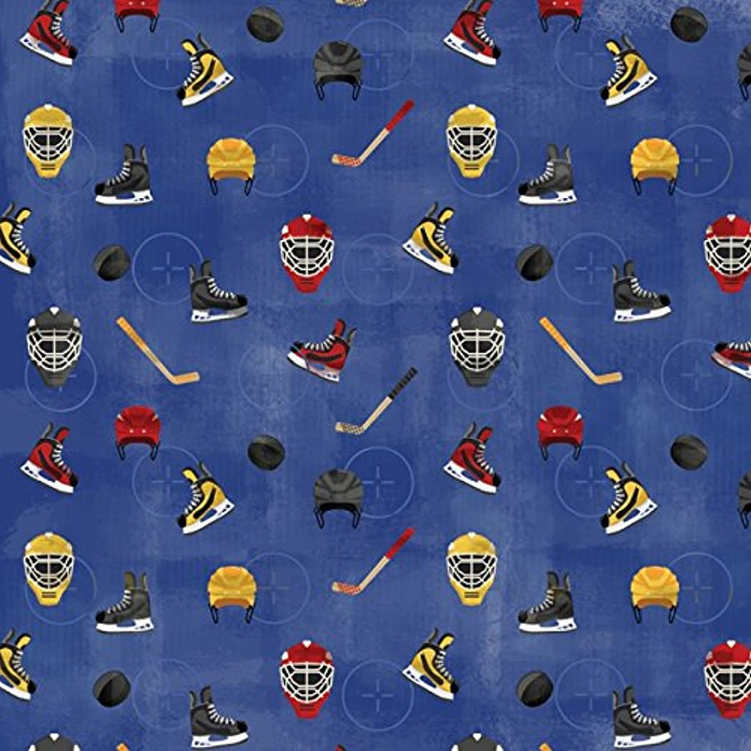 KAREN FOSTER 12 x 12-Inch Scrapbook Paper, 25 Sheets, Get Ready for Hockey,