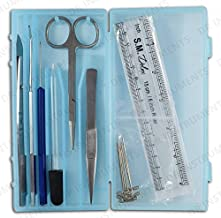 DR Instruments 61936PCT Precision Dissection Kit, Hard Plastic Case, Assorted Color