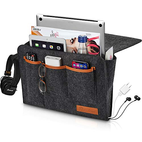 Product Image of the GoCoral Large Bedside Caddy Organizer - Heavy Duty Buckles for Bunk Bed Hold Up...