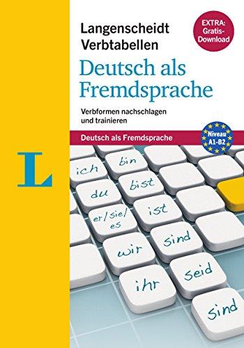 Langenscheidt Verbtabellen Deutsch als Fremdsprache - Buch mit Konjugationstrainer zum Download: Verbformen nachschlagen und trainieren