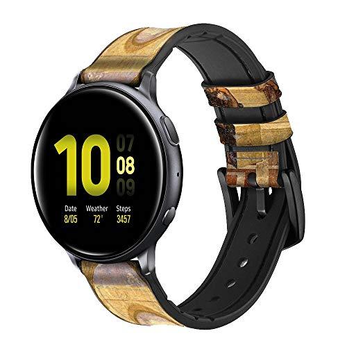 Innovedesire Raphael's School of Athens Correa de Reloj Inteligente de Cuero y Silicona para Samsung Galaxy Watch, Watch3 Active, Active2, Gear Sport, Gear S2 Classic Tamaño (20mm)