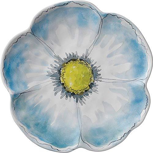 Floral Sketchbook Dinner Plate Blue