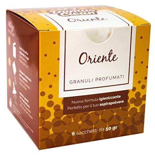 domus clean Granuli profumati per aspirapolvere - Fragranza Oriente - Scatola con 6 bustine da 50 Grammi
