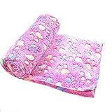 1 x Hundedecke von Lumanuby, Kuscheldecke für Haustiere, superweiche, warme Decke für Katzen und Hunde, rose, 60*40cm S