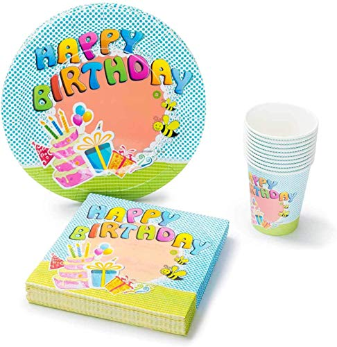 UMOI Set de Fiesta desechable para cumpleaños – 30 Platos de cartón,...