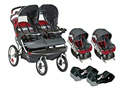 Double Jogging Stroller with Car Seat Combo