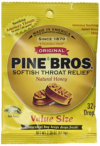 Pine Bros. Softish Throat Drops Value Size, Natural Honey, 30 Count (Pack of 3)
