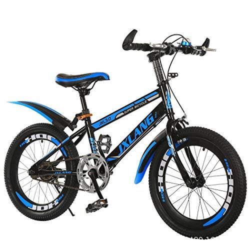 Foride 18/20/22 Inch Bambini/Ragazzi/Bambini Bambini Formazione Bicicletta Variabile Velocità Mountain Bambini Bike Bmx Bici Per Sport Outdoor Ciclismo (Nero blu velocità singola frameless,22')