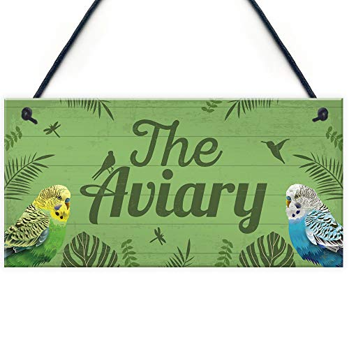 RED OCEAN The Aviary Bird Aviary Sign Bird Accessories For Cage Garden...