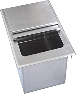 BK Resources BK-DIBL-1218 Stainless Steel Single Compartment Drop In Ice Bin with Removable Hinge Lid 12