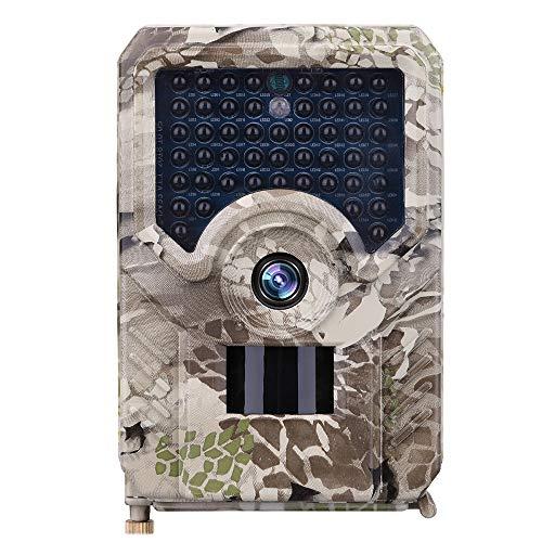 LMYMX Wildkamera Fotofalle 12MP 1080P, Infrarot-Nachtsicht Jagdkamera mit 940nm LEDs, Zeitraffer, Zeitschaltuhr, IP56 Wasserdicht, für Jagd, Überwachung von Tieren,Camera