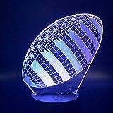 3D Lampe Rugby Football Sport Ballon Jeux Chambre Décoration 7 Couleurs Avec Télécommande Meilleur Cadeau De Vacances Pour Enfants Lampe De Nuit