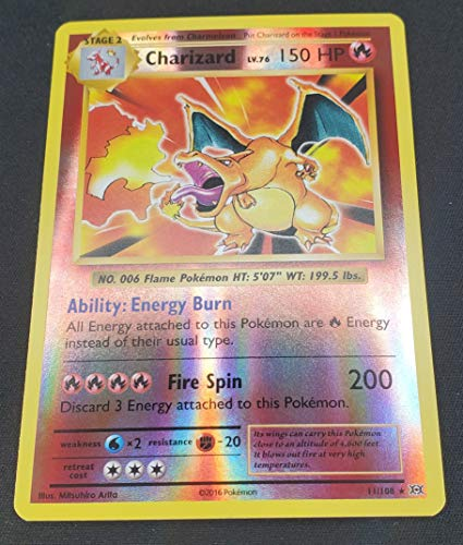 Pokemon - Charizard (11/108) - XY Evolutions - Reverse Holo