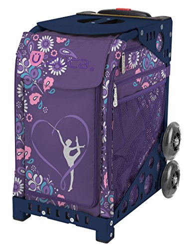 For Sale! ZUCA Gymnast Sport Insert Bag and Navy Blue Frame with Flashing Wheels