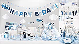 Little Plane Themed Birthday Decorations Party Supplies 1st Baby Boy Set Outfit Toys for Boys Kids Babies Airplane Party Favors for Kids