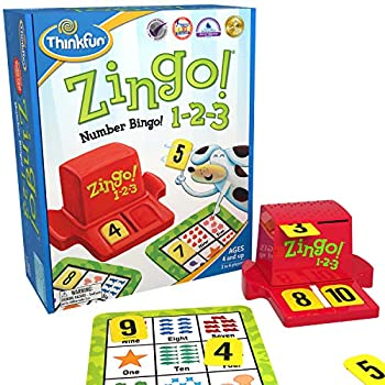 Think Fun Zingo 1-2-3 Number Bingo Game for Age 4 and Up - Award winner and Toy of the Year Nominee  7703