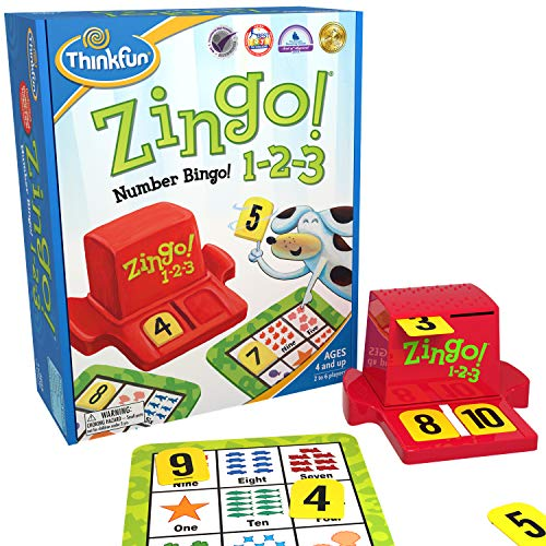 Think Fun Zingo 1-2-3 Number Bingo Game for Age 4 and Up - Award winner and Toy...