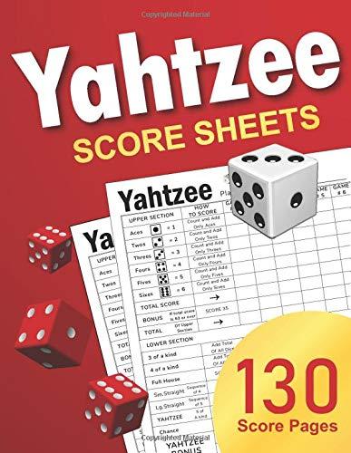 Yahtzee Score Sheets: Large Score Pads / Book