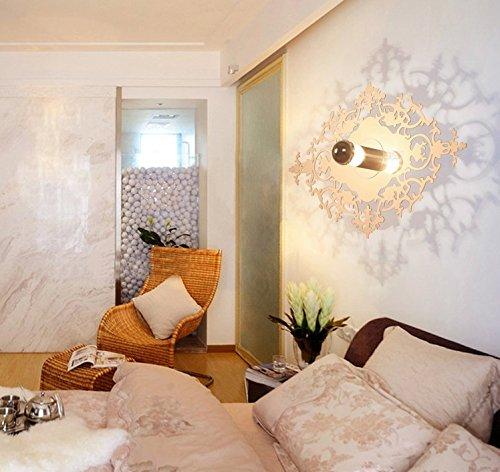 5151BuyWorld moderne minimalistische wandlamp Rome, schaduw, woonkamer, trap, kinderen, creatieve persoonlijkheid, LED, wit, snijwerk, E27