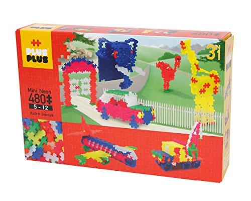 Plus-Plus - Puzzle Mini Neon 3-en-1, 480 Piezas (3721)