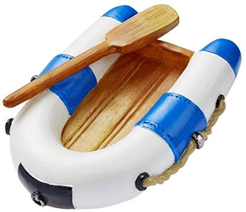 Unbekannt Miniatur Schlauchboot 7 cm blau weiß Figur Deko Urlaub Meer Schiff Strand Ferien Boot