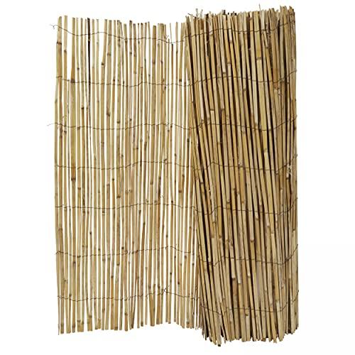 Oviala Canisse Bambou Marron Rectangulaire 500 x 150 cm Bois Perche