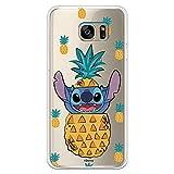 Funda para Samsung Galaxy S7 Edge Oficial de Lilo & Stitch Stitch Piñas para Proteger tu móvil. Carcasa para Samsung de Silicona Flexible con Licencia Oficial de Disney.
