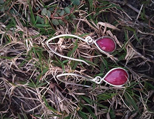 Ruby Earrings, 925 Silver Earrings, Tiny Earrings, Bridesmaid Earrings, Boho Earrings, Dainty Earrings, July Birthstone Jewelry, Gift For Her, Dangle & Drop Earrings, Womens Gift, Everyday Earrings
