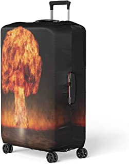 Pinbeam Luggage Cover Nuclear Explosion in Setting Symbol of Environmental Protection Travel Suitcase Cover Protector Baggage Case Fits 26-28 inches