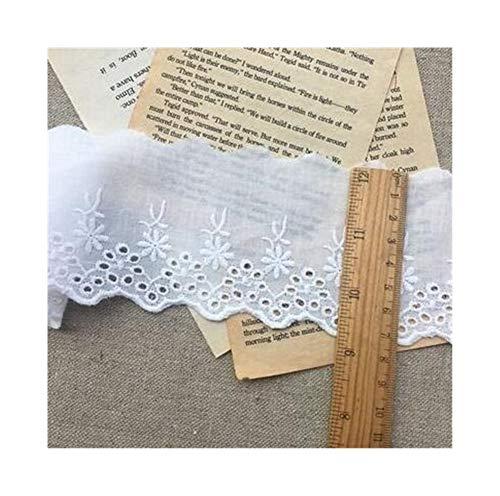 CQHUI Cinta de la Cinta del cordón de Lujo de Cuello de algodón Bordado de Encaje de Flores de Tela de Coser Apliques de Bricolaje Recorte de Novia Vestido de Tela Guipure Decoración