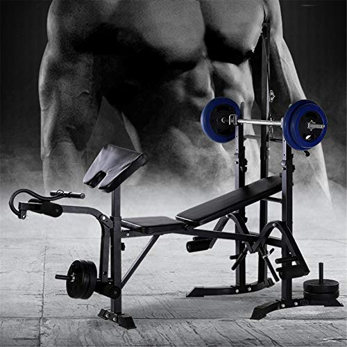 Adjustable Weight Bench Set,Strength Training Benches, Multifunctional Weight-Lifting Bed Weight-Lifting Machine Fitness Equipment for Home/Office/Gym