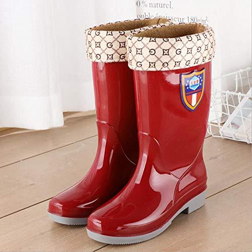 HRFHLHY Fashion regenlaarzen Volwassene regenlaarzen Universele waterschoenen voor mannen en vrouwen Waterdichte antislip outdoor high tube heren waterdichte schoenen