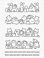 Merry Christmas and Easter Clear Stamps Scrapbook Paper Craft Clear stamp scrapbooking c203